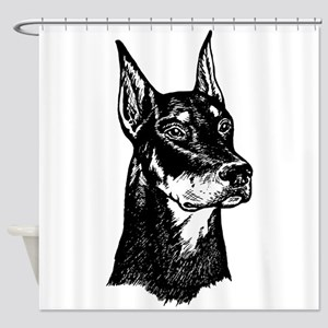DOBERMAN HEAD Shower Curtain